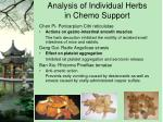 analysis of individual herbs in chemo support2
