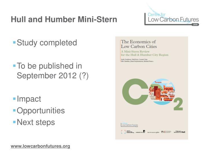 Hull and Humber Mini-Stern