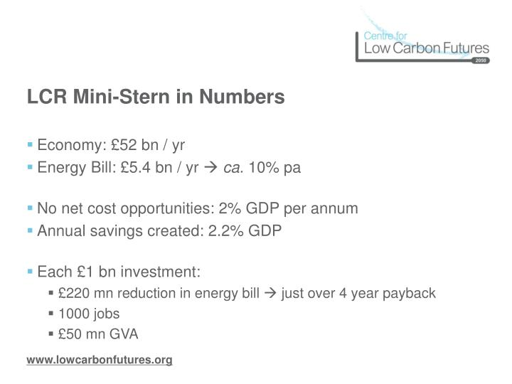 LCR Mini-Stern in Numbers