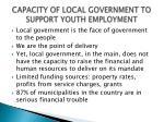 capacity of local government to support youth employment1