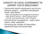 capacity of local government to support youth employment4