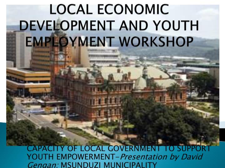 local economic development and youth employment workshop n.