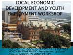 local economic development and youth employment workshop