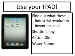 use your ipad2