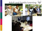 adult and family learning