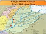geographical coverage punjab pakistan map