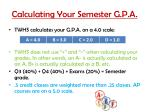 calculating your semester g p a
