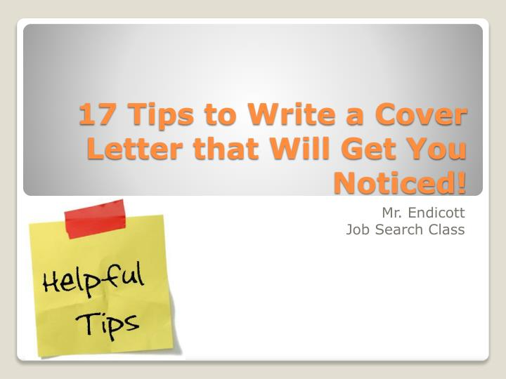 17 tips to write a cover letter that will get you noticed n.