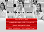 2012 year of the stream