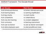 skillsoft framework the decade ahead