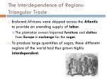 the interdependence of regions triangular trade1