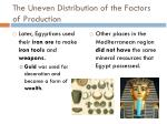 the uneven distribution of the factors of production3