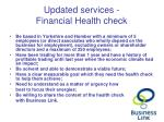 updated services financial health check