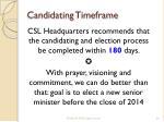 candidating timeframe