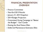 financial presentation overview