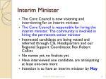 interim minister