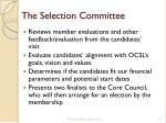 the selection committee