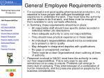 general employee requirements