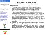 head of production