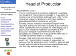 head of production1