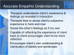 accurate empathic understanding