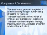 congruence genuineness