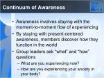 continuum of awareness