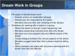 dream work in groups