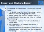 energy and blocks to energy