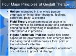 four major principles of gestalt therapy
