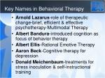 key names in behavioral therapy