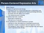 person centered expressive arts