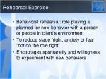 rehearsal exercise