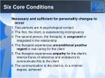 six core conditions
