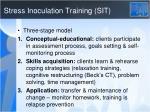 stress inoculation training sit
