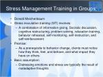 stress management training in groups