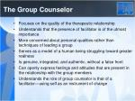 the group counselor