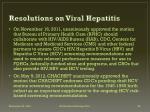 resolutions on viral hepatitis