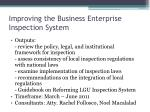 improving the business enterprise inspection system