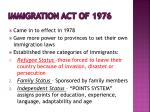 immigration act of 1976