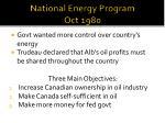 national energy program oct 1980