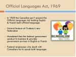 official languages act 1969
