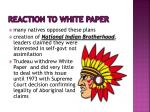 reaction to white paper