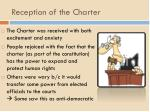 reception of the charter