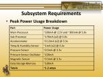 subsystem requirements2