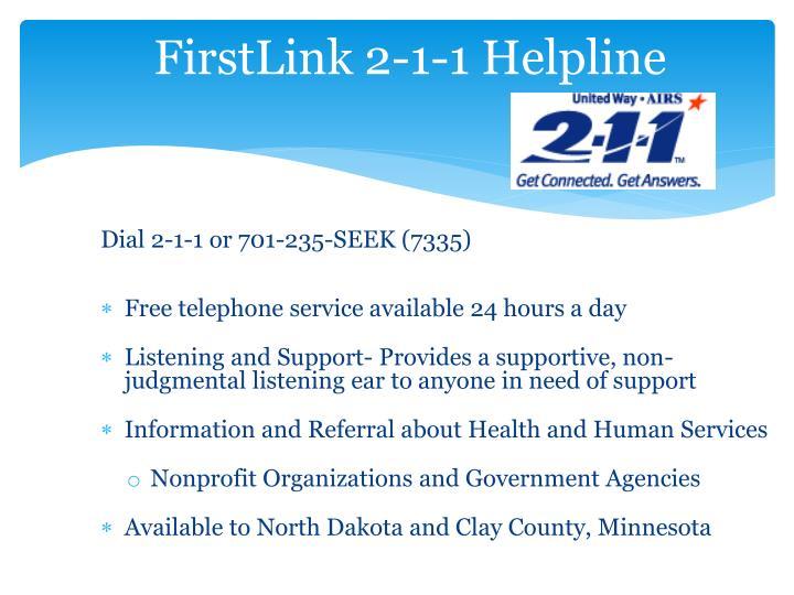 FirstLink 2-1-1 Helpline