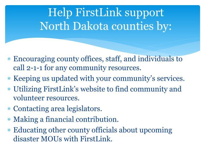 Help FirstLink support