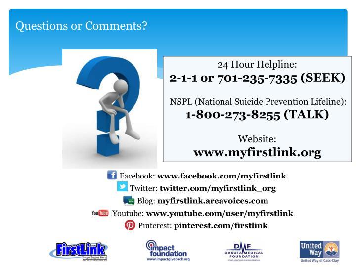 24 Hour Helpline: