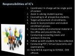responsibilities of ic s