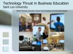 technology thrust in business education saint leo university6